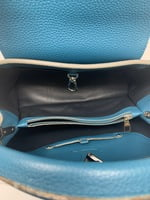 LV  blue canard Taurillon Cappucines MM